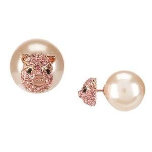 Kate Spade Imagination Pig Reversible Earrings